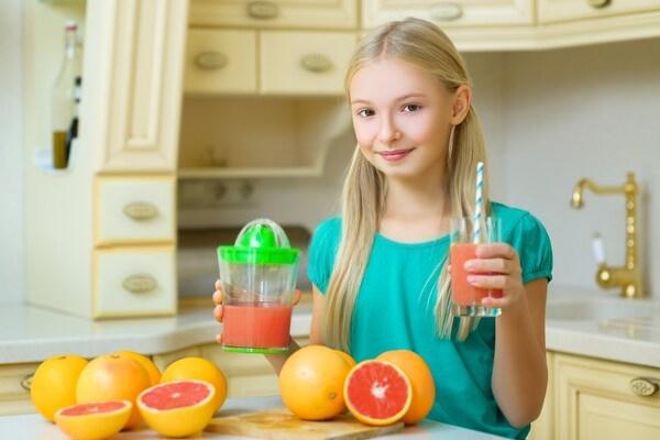 Употребление грейпфрута ребенком