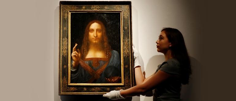 Картина Леонардо да Винчи «Спаситель мира»