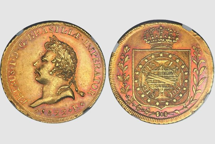 монета Педру Первый 1822 года