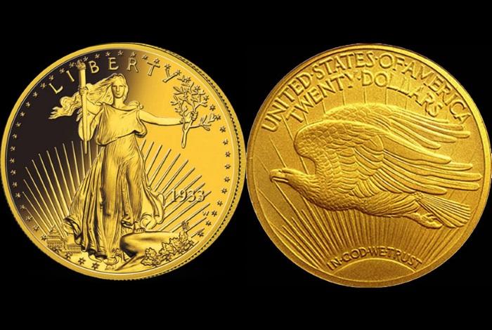 монета Двуглавый орел Сен-Годена 1933