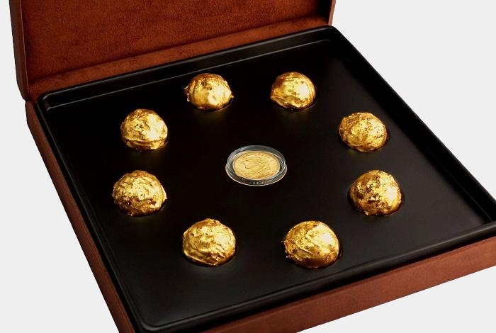 DeLafee of Switzerland's Gold Chocolate Box