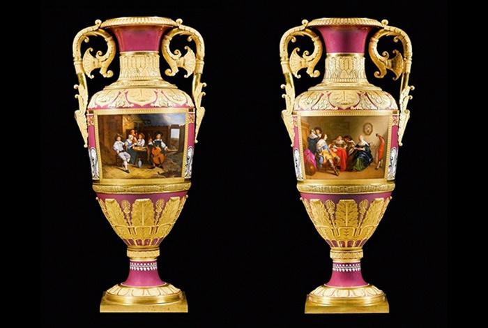 Напольные парные вазы (подарок от Николая Первого)